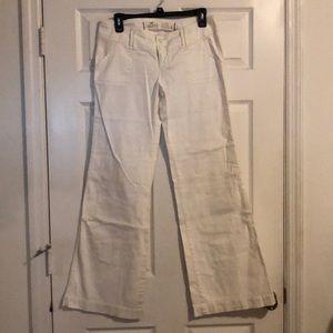 White flare leg pants very cute!